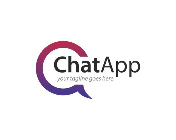 Chat-APP Logo Icon Vector