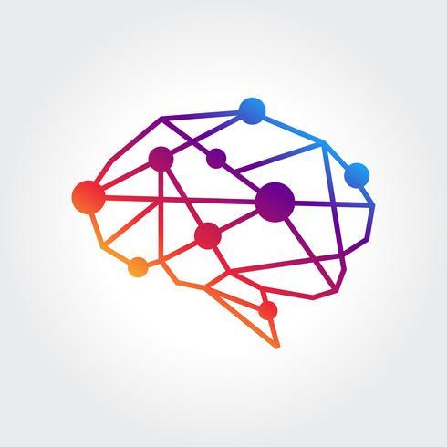 Abstrakt hjärnsymbol design vektor