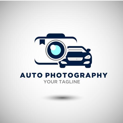 Elegantes Auto-Logo-Design oder Vektor des Auto-Schattenbildes