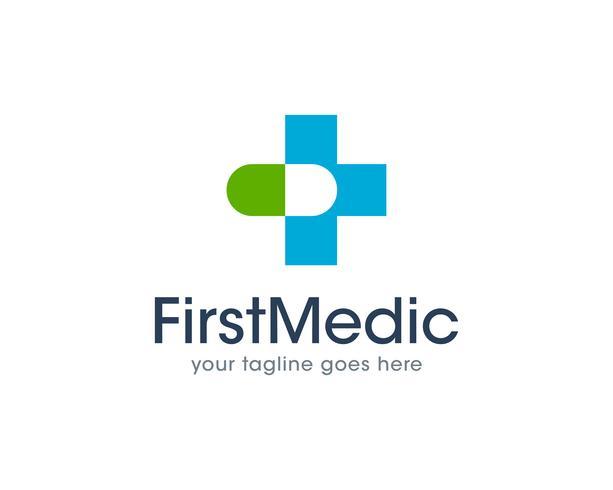 Erster medizinischer Gesundheits-Logo Icon Vector
