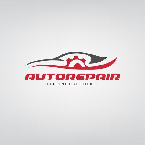 Bil reparation Bil Logo design vektor