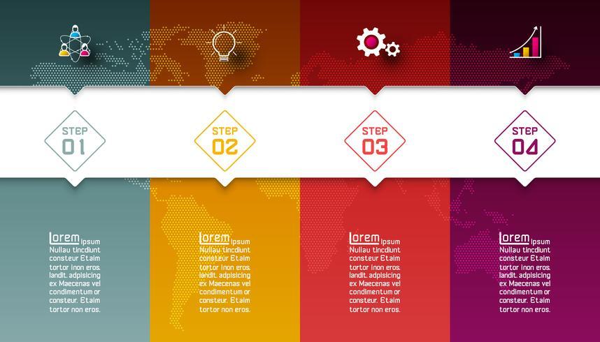 Färgglada barer med företagsikoninfographics. vektor