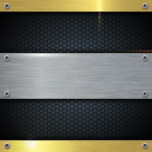 Guld och metall solid ark abstrakt bakgrund. vektor