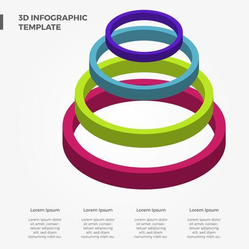 Flache bunte Infographic Vektor-Schablone 3D vektor