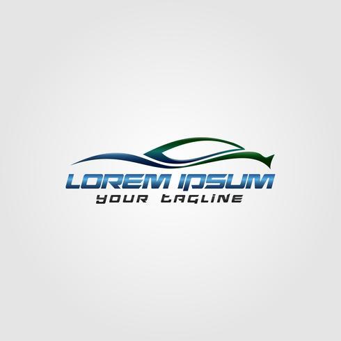Creative Automotive Logo Design konceptdesign grön blå färg. vektor