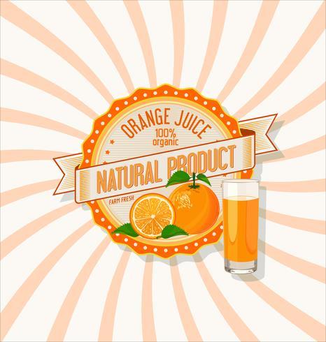 Apelsinjuice och skivor orange bakgrund vektor