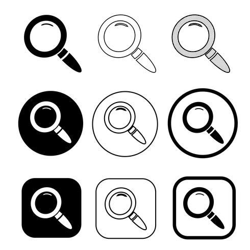 Lupe Zeichen Suchsymbol vektor
