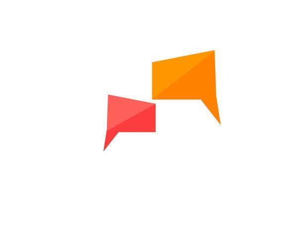 Spracheblasenikone Logo-Schablonenvektor vektor