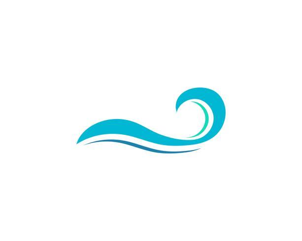 våg vatten logotyp strand vektor