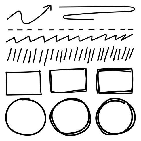 Vektorsatz der Linie Schmutzbürstenbeschaffenheiten. Handgemachte Vektor-Illustration. vektor