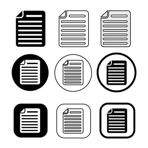 einfaches Dokument Dateisymbol. Papierdokument Zeichen vektor