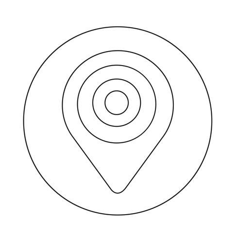 Kartpekareikonen vektor