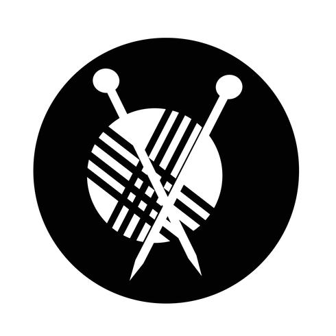 stickning ikon vektor