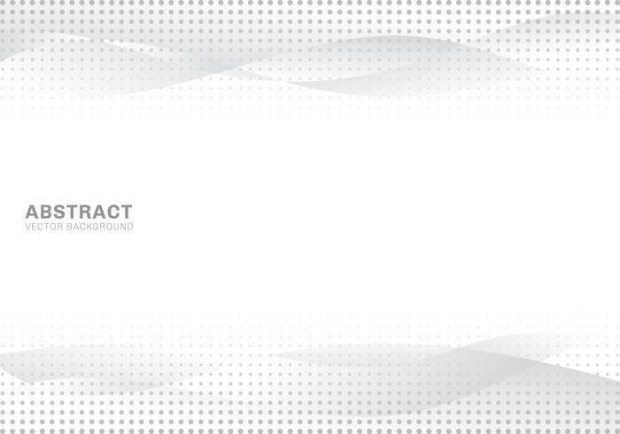 Abstrakta vita och gråa gradientvågor moderna ljusa halvton prickar konstbakgrund och konsistens. Kopiera utrymme. vektor