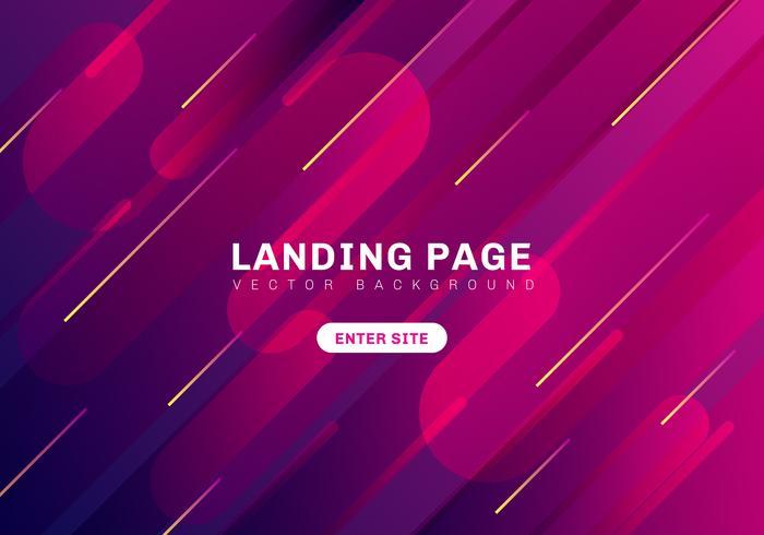 Abstrakter minimaler geometrischer vibrierender Farbhintergrund. Template Website Landing Page. Dynamische Formkomposition. vektor
