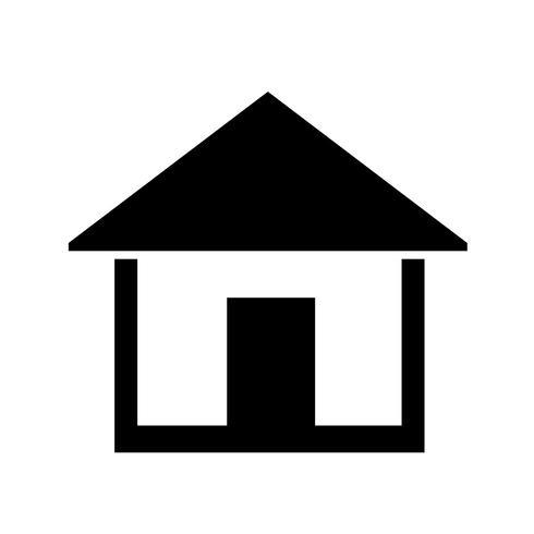 hem ikon enkel symbol vektor
