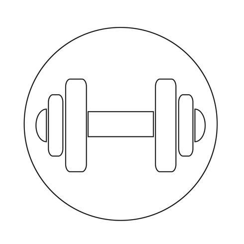 Hantel-Symbol vektor
