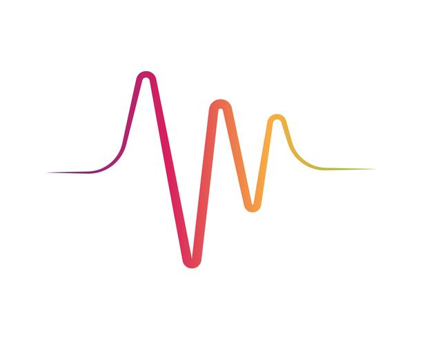 Schallwellen-Vektor-Illustration vektor