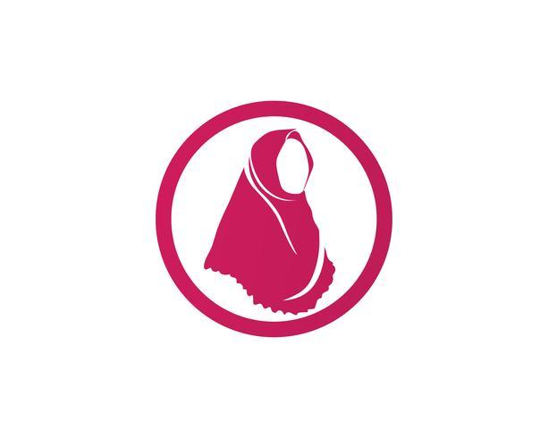 hijab vektorschwarzsymbol vektor