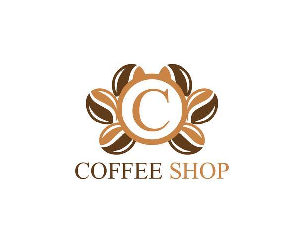 Kaffeetasse Logo Vorlage vektor
