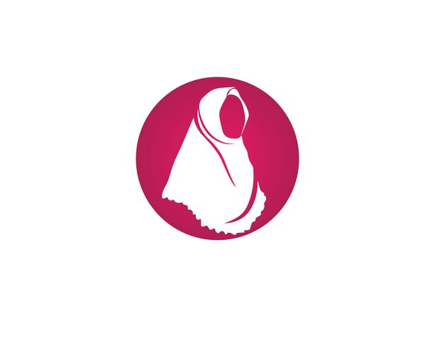 hijab vektor svart symbol