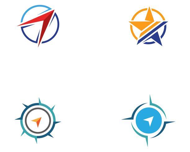 Kompass Logo Template-Vektorikonen-Illustrationsdesign vektor