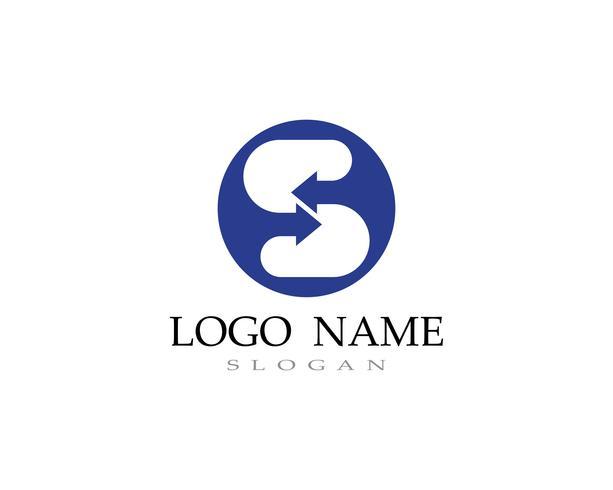 S-logotyp vektor linje mall font