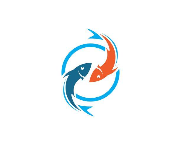 Fisch-Logo-Vorlage vektor