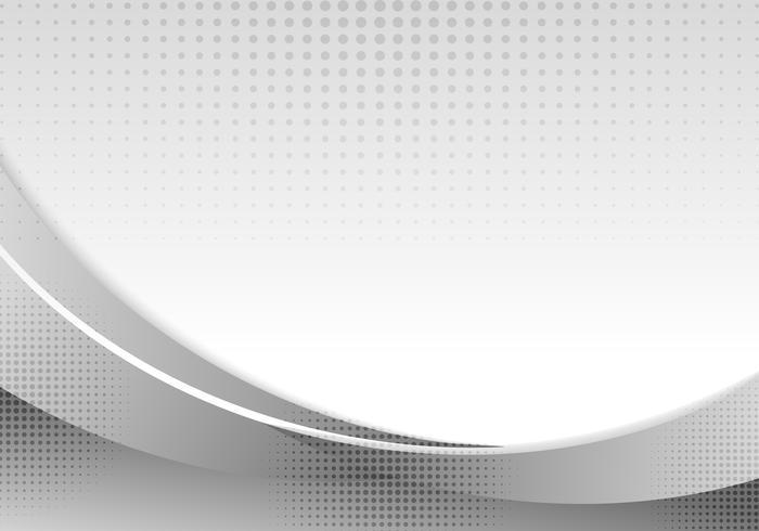 Abstrakt grå vågor eller krökt professionell affärsdesign layout mall eller företags banner webbdesign bakgrund med halvtonseffekt. Kurvflöde grå rörelse illustration. Orange släta vågledningar. vektor
