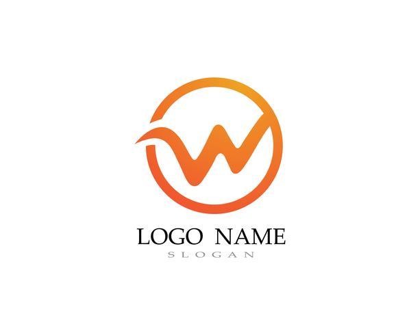 W Logo und Symbol Geschäftsvektoren vektor