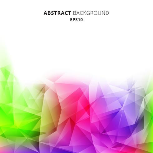 Abstrakt geometrisk lågpolyfärgat mönster på vit bakgrund. polygoner design ljus färg. vektor