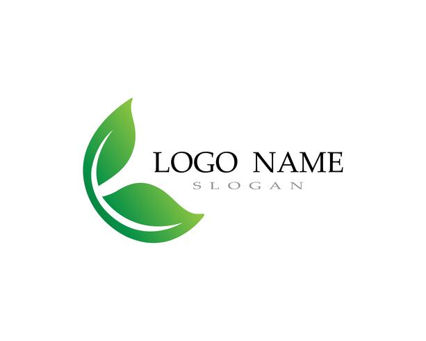 Logos des grünen Blattökologie-Naturelementvektors vektor