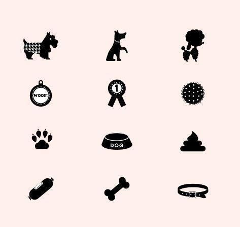 Hund Vektor Icons Pack