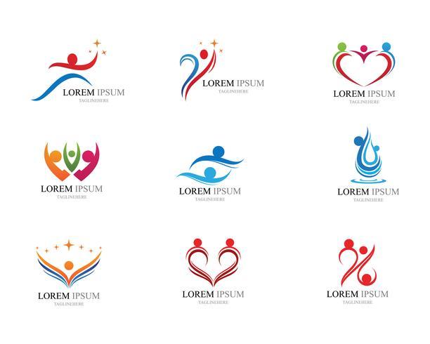 Mänskliga tecken logotypen vektor