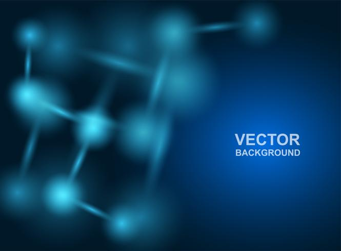 Abstract.molecules Design. Atome. Medizinischer oder wissenschaftlicher Hintergrund. Molekülstruktur mit blauen kugelförmigen Partikeln. Vektor-illustration vektor