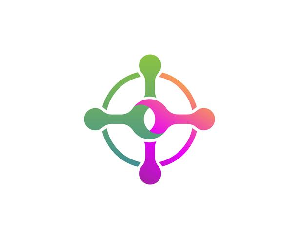 Molekülvektor-Illustrationsdesign vektor