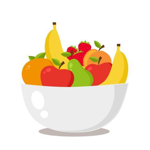 fruktfat med frukt vektor