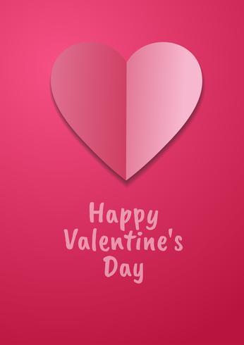 Liebe Einladungskarte Valentinstag abstrakten Hintergrund. Grußkarte, flaches Design Glückliche Liebe. kann addierter Text sein. Vektor-Illustration vektor