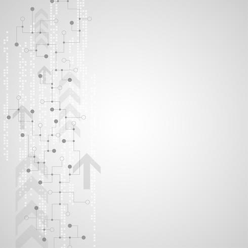 Vektor abstrakt bakgrundsteknik krets koncept.