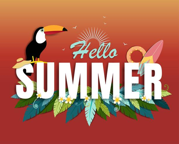 Vacker sommar banner och affisch kort vektor