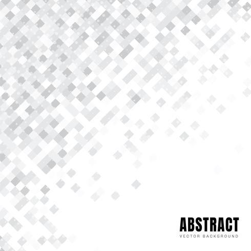 Abstraktes diagonales Muster der weißen Quadrate mit Punkthalbton- und -kopienraum. vektor