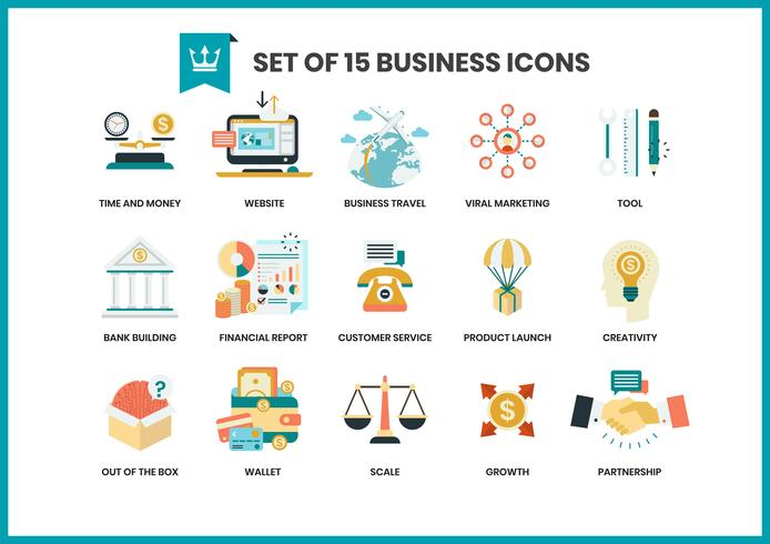 Affärsymboler ställda för företag vektor