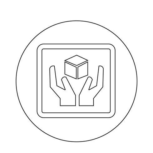 bräcklig ikon vektor