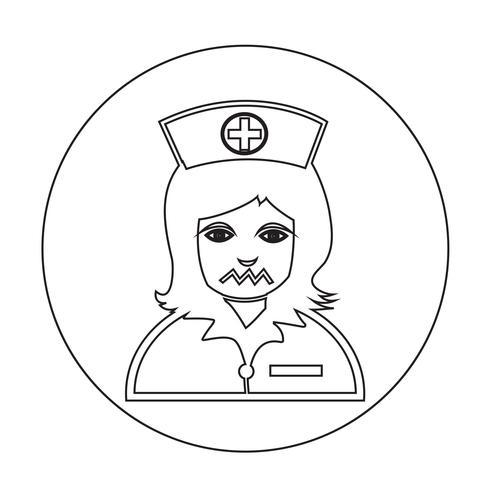 Krankenschwester-Symbol vektor