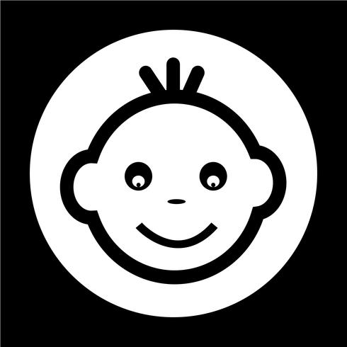 Baby Gesichtssymbol vektor