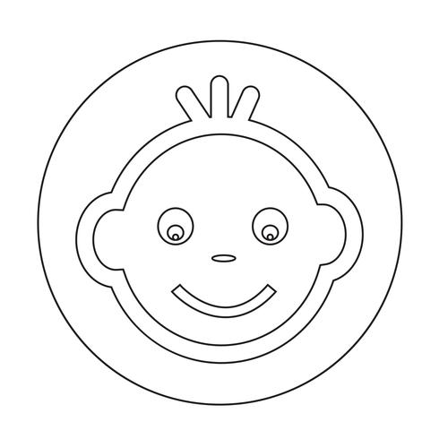 baby ansikte ikon vektor