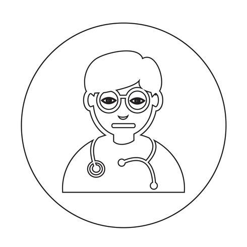 Doktorns ikon vektor