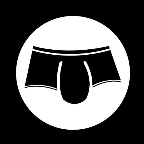 Männer Unterwäsche-Symbol vektor