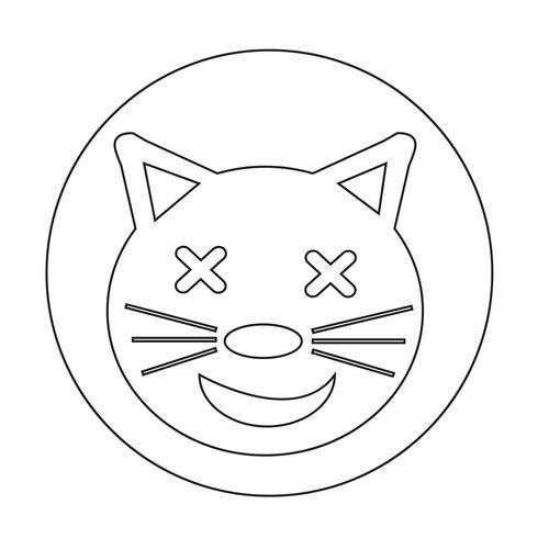 Katzen-Symbol vektor
