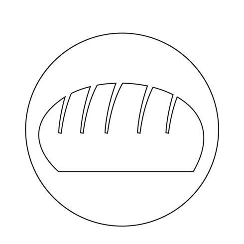 Brot-Symbol vektor